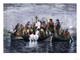 Secret Burial of Hernando de Soto at Night in the Mississippi River 1542 Giclee Print