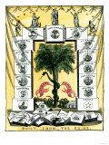 Banner of the Secession Convention in Charleston, South Carolina, c.1860 Giclée-Druck