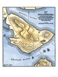 Map of the Battle of Bunker Hill, Drawn from a British Map Giclee Print