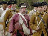Lexington Minutemen Reenactors March at Yorktown Battlefield, Virginia Photographic Print