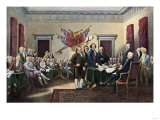 Signing the Declaration of Independence, July 4, 1776 Lámina giclée