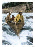 Prospectors Risking the White Horse Rapids of the Yukon River Going to the Klondike Gold Rush 1898 Giclee Print