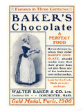 Ad for Baker's Chocolate, c.1900 Premium Giclee Print