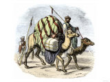 Camel Caravan Loaded with Goods Giclee Print