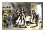 Minuteman Leaving for the Battle of Lexington, the Start of the American Revolution, c.1775 Giclee Print