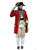 British Soldier in a Reenactment of the Surrender at Yorktown Battlefield, Virginia Photographic Print