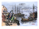 Colonials Destroy British Cargo of Tea in Boston Harbor, 1773, Known as the Boston Tea Party Giclee Print