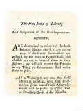 Sons of Liberty Handbill Supporting Boycott of British Goods in Boston Before the Revolutionary War Giclee Print