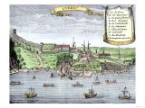 Quebec City and the Saint Lawrence River, c.1722 Giclee Print