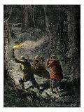 Hunters Bringing Home a Bear Giclee Print