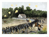 Irwin's Brigade Charging the Confederate Position at the Dunker Church, Battle of Antietam, c.1862 Giclee Print