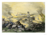 American Assault on the Fortress of Chapultepec, U.S.-Mexican War, c.1847 Premium Giclee Print