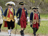 Rochambeau and Other French Officer Reenactors March to the Surrender Ceremony at Yorktown Photographic Print