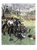 Minutemen at Lexington Green, April 1775 Giclee Print