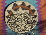 Posole - Pueblo Indian Dried Corn - in a Native American Basket, Photographic Print