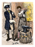 Blacksmith Angry at Being Served a Tax Demand, a Scene in Shays's Rebellion, c.1786 Giclee Print