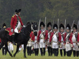 British Army on the Field in a Reenactment of the Surrender at Yorktown Battlefield, Virginia Photographic Print