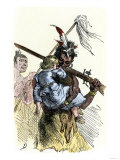White Child Carried Away during Native American Conflict with Settlers Giclee Print