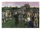 Minutemen Assembling on Cambridge Common the Night Before the Battle of Bunker Hill, c.1775 Giclee Print