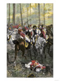 Combat during the Battle of Cowpens, c.1781 Premium Giclee Print