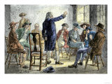 Meeting of Colonists Protesting British Treatment Before the American Revolution Giclee Print