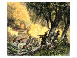 General Wayne's Victory at the Battle of Fallen Timbers, c.1794 Giclee Print