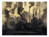 Duquesne Steel Factories at Night, Pittsburgh, Pennsylvania, c.1900 Giclee Print