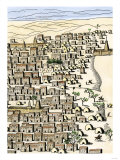 Timbuktu in Africa, as Drawn by Rene-Auguste Caillie, the First European Visitor, c.1828 Giclee Print