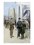 Reporter Interviewing People in the Financial District, New York City, c.1890 Giclee Print