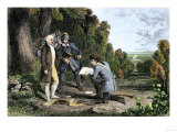 Capture of British Agent John Andre and Discovery of Benedict Arnold's Treason, American Revolution Giclee Print