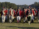 British Troops Marching in a Reenactment on the Yorktown Battlefield, Virginia Photographic Print