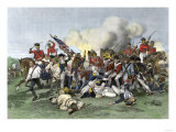 Death of General de Kalb at the Battle of Camden, South Carolina, c.1780 Giclee Print