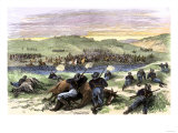 Battle of Beecher Island on the Arikaree Fork, c.1868 Giclee Print