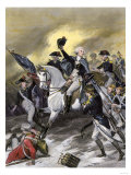 General Washington Leading the Americans at the Battle of Princeton, New Jersey, c.1777 Giclee Print