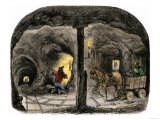 Tunnel in a California Mine, c.1850 Giclee Print
