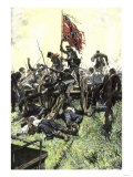 Pickett's Charge Reaching the Union Center at the Battle of Gettysburg, American Civil War Giclee Print