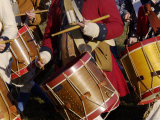 British Drummers Marching in a Reenactment on the Yorktown Battlefield, Virginia Photographic Print