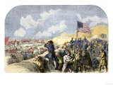 American Forces Behind the Breastworks at the Battle of New Orleans, c.1815 Giclee Print