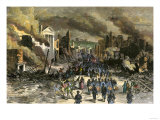 Black Regiment of the Union Army Entering Richmond, April 3, 1865, Near the End of the Civil War Giclee Print