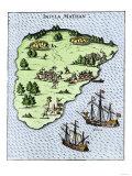Magellan's Ships at Mactan, c.1521 Giclee Print