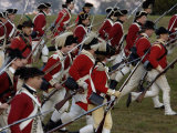 British Sortie Reenactment at Yorktown Battlefield, Virginia Photographic Print