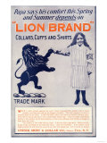 Ad for Lion Brand Shirts, Collars, and Cuffs for Men, c.1901 Giclee Print