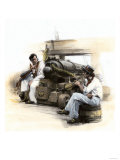 Sailors on the Deck of an American Privateer Hunting English Shipping during the War of 1812 Premium Giclee Print
