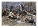 Union Soldiers Held as Prisoners of War at Andersonville Prison Camp during the Civil War Giclee Print