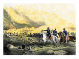 General Taylor in Command of U.S. Troops against Santa Ana's Forces, U.S.-Mexican War, c.1847 Giclee Print