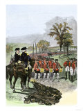 British Army Surrenders to American General Horatio Gates after the Battle of Saratoga, c.1777 Giclee Print