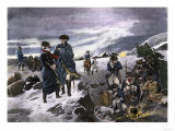 General George Washington and the Marquis de Lafayette at Valley Forge Winter Camp Lámina giclée