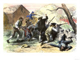 Minutemen at the Battle of Lexington, Starting the American Revolutionary War, c.1775 Giclee Print