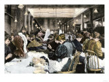 Women Garment Workers in the Dressmaking Department of a Factory, About 1890 Giclee Print