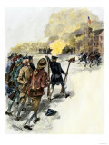 Massachusetts Militia Attacking the Rioters in Shays' Revolt, c.1786-1787 Giclee Print